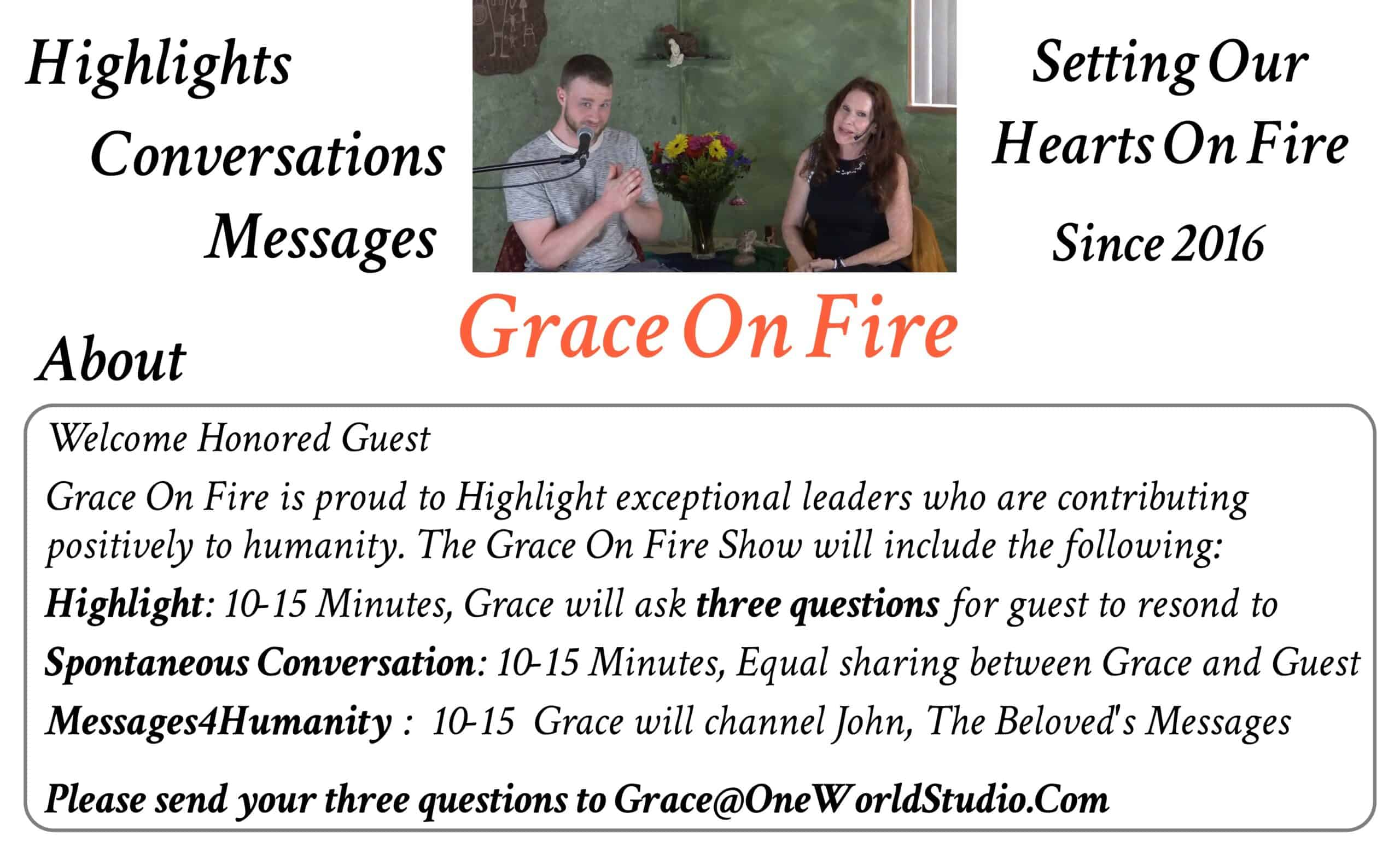 Send 3 Questions to Grace